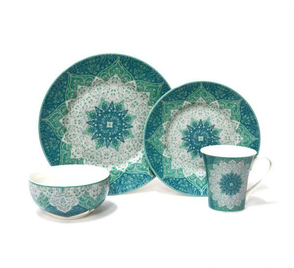 Kashan Blue 16 Piece Dinnerware Set | 222 Fifth  sc 1 st  Pinterest & Kashan Blue 16 Piece Dinnerware Set | Dinnerware Tablewares and ...