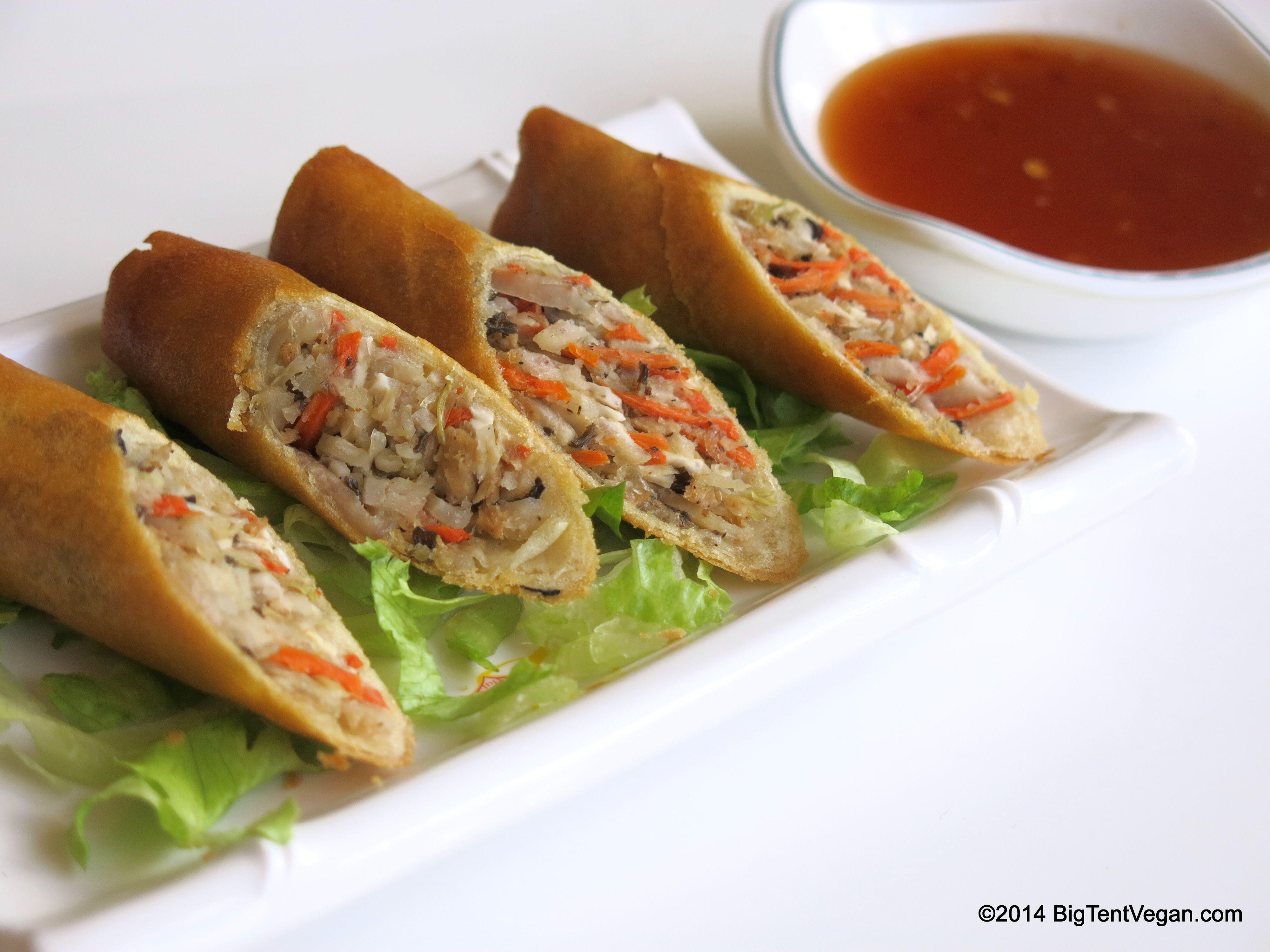 Crispy Spring Rolls 100 Vegan Restaurant Loving Hut 1614 S King St Punahou Honolulu Hi