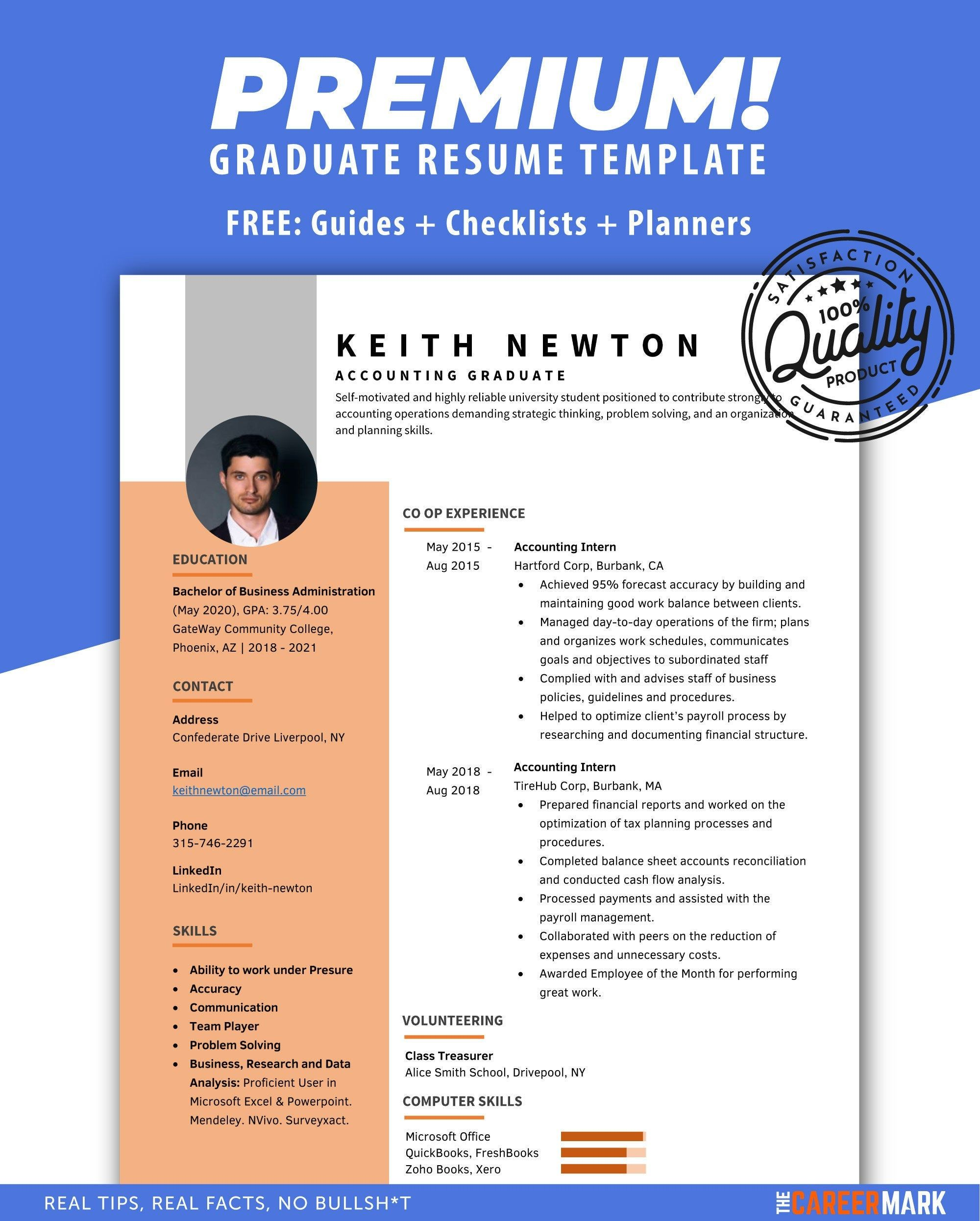 Resume Template For Word Instant Download Cv Template With Professional Resume Template Clean Simple Resume For Word One Page Resume Resume Template Resume Template Word One Page Resume