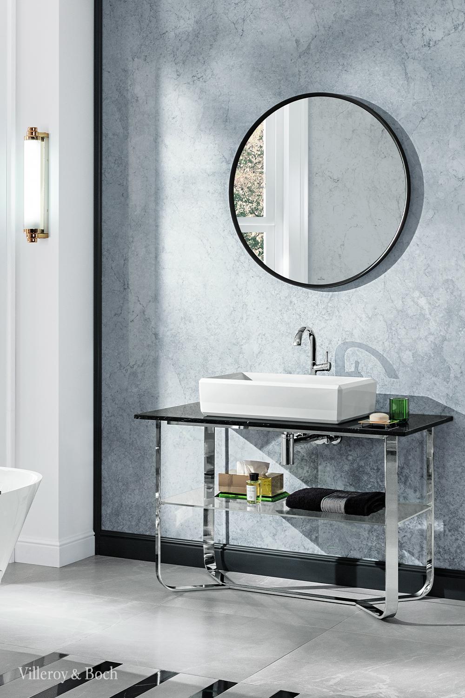 Mettez En Valeur Votre Salle De Bains Avec Un Miroir Mural Design Et Moderne In 2020 Badezimmerspiegel Runde Badezimmerspiegel Art Deco Badezimmer