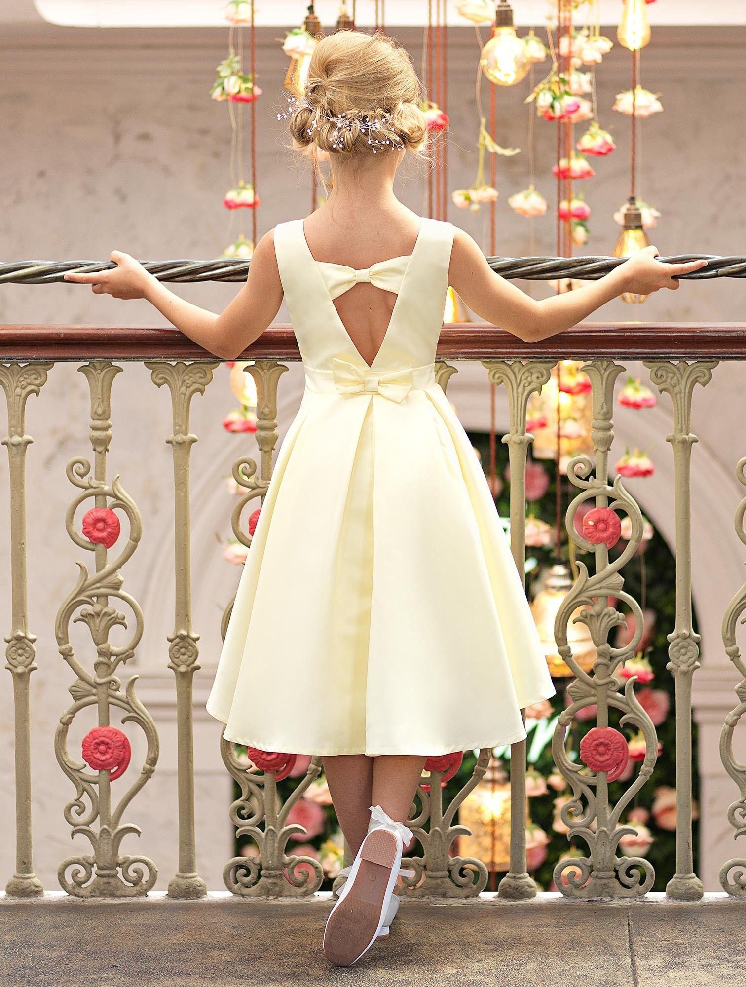 Girls lemon eloquence dress belle flower girls dresses