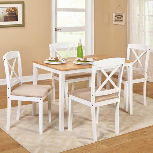 dinning set 5 piece modern table room elegant wood chair home rh pinterest com