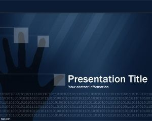 technology security powerpoint template ppt template | modern, Modern powerpoint
