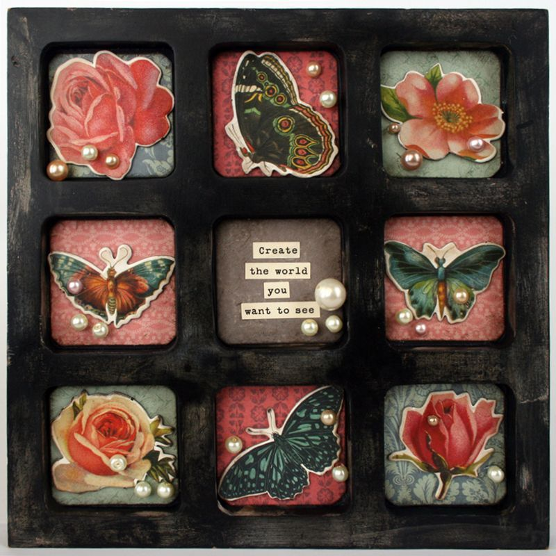 Mixed_media_art_piece_collage   Shadow boxes & trays ...