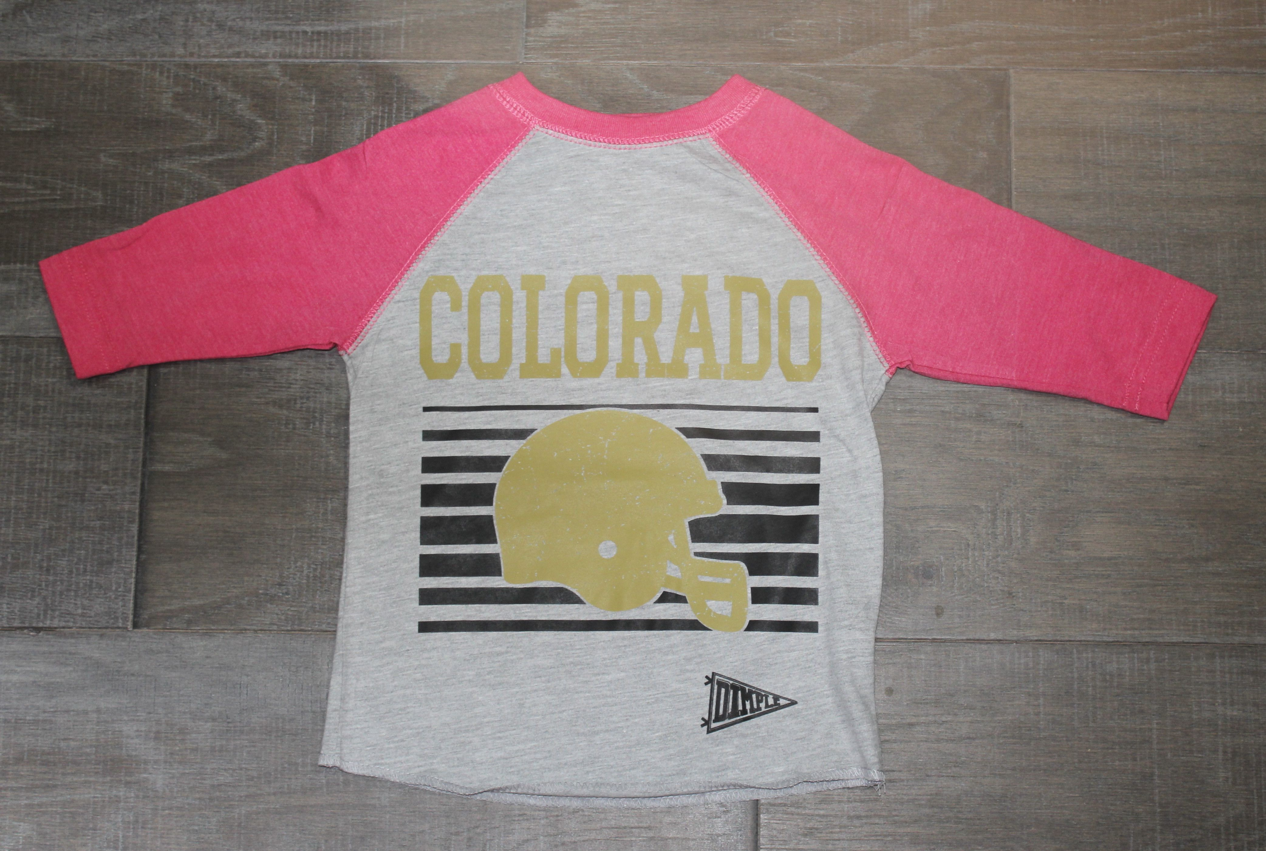 Kids Cu t-shirt for the Colorado Boulder Football team. Go Buffs!