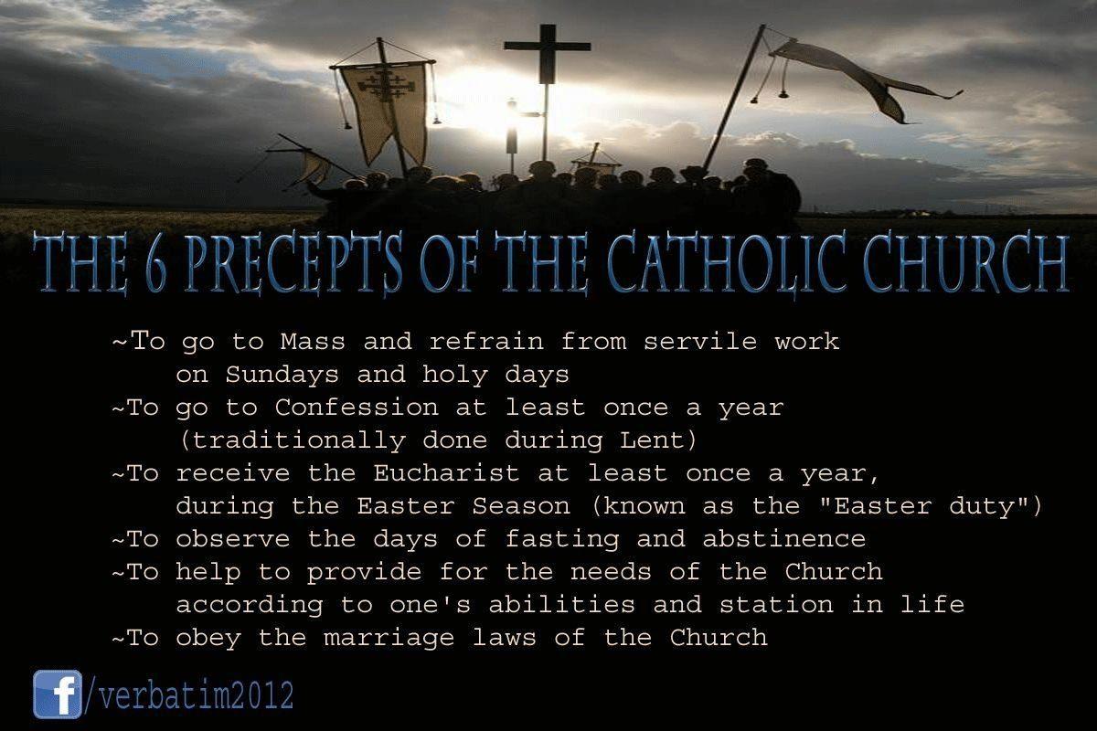 The 6 Precepts Of The Catholic Church