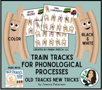 """Train Tracks for Phonological Processing No Prep! Pairs with the book """"Old Tracks New Tricks"""" by Jessica PetersonInnovation Press The book """"Old Tracks New Tricks"""" is a darling book about new train tracks teaching old train tracks that it is okay be different and try something new!"""