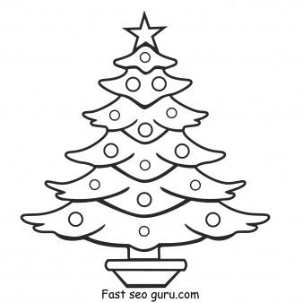 Print out christmas tree coloring pages , Printable Coloring