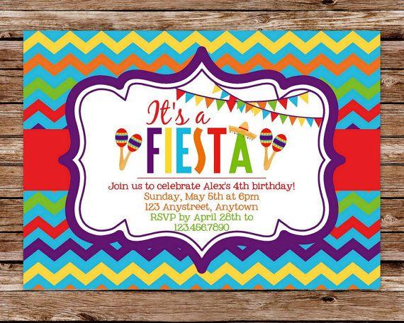 printable fiesta cinco de mayo birthday by thepaperblossomshop