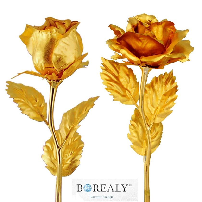 Un Trandafir Spectaculos Din Foita De Aur Wedding Decorations