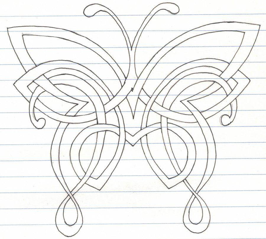 Celtic Butterfly by darkartmind.deviantart.com on
