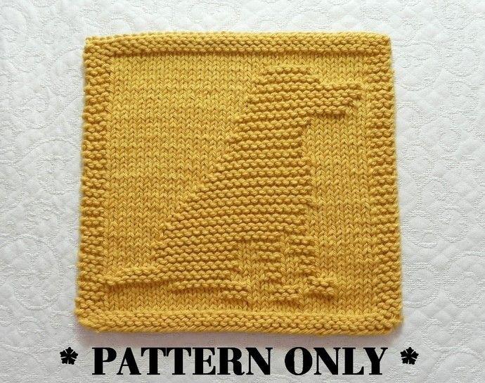 Knit Dishcloth Pattern Of Labrador Retriever Knitted Dishcloth