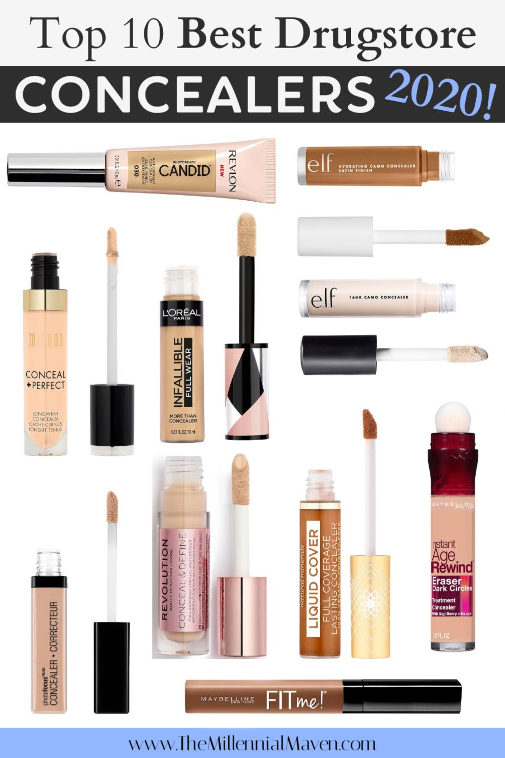 Updated 2020 Top 10 Best Concealers At The Drugstore Drugstore Concealer In 2020 Drugstore Concealer Best Drugstore Concealer Best Concealer