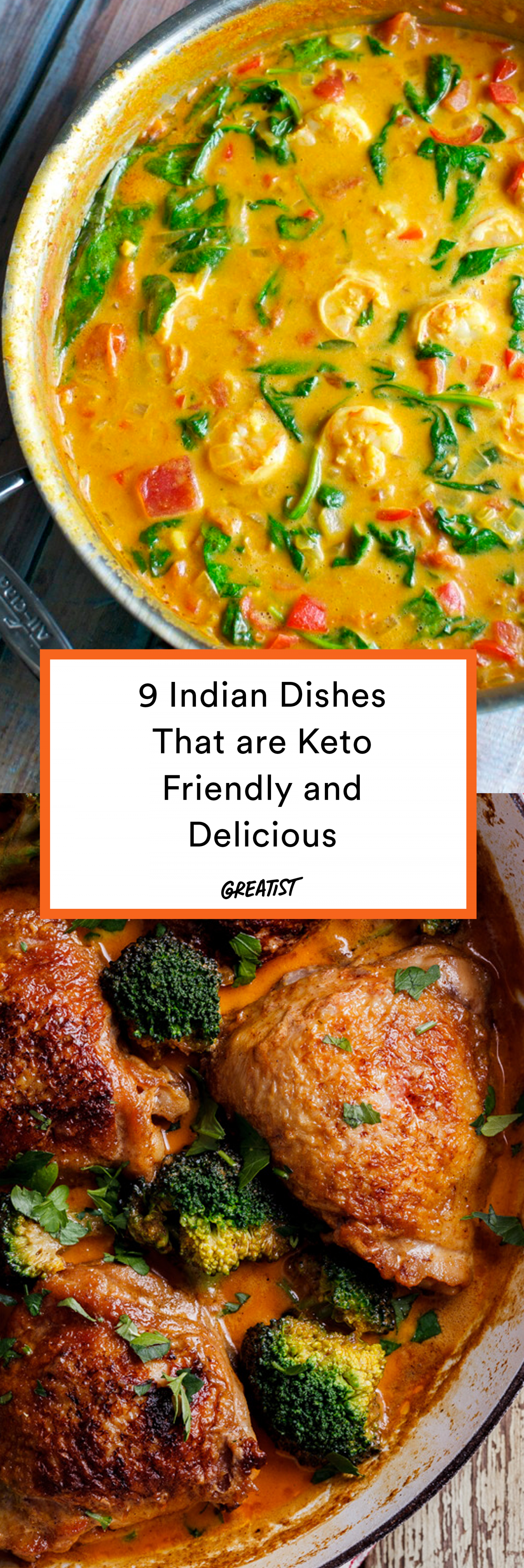 9 Indian Dishes That Are Almost Always Keto-Friendly Cruise this list of staple Indian dishes that are totally safe for low-carb diets. These keto recipes will quickly become part of the weekly dinner rotation. #vegetariandish