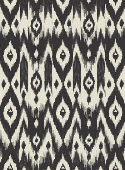 Black Cream Tribal Ikat Art Print - Bohemian Gypsy Jane # ...