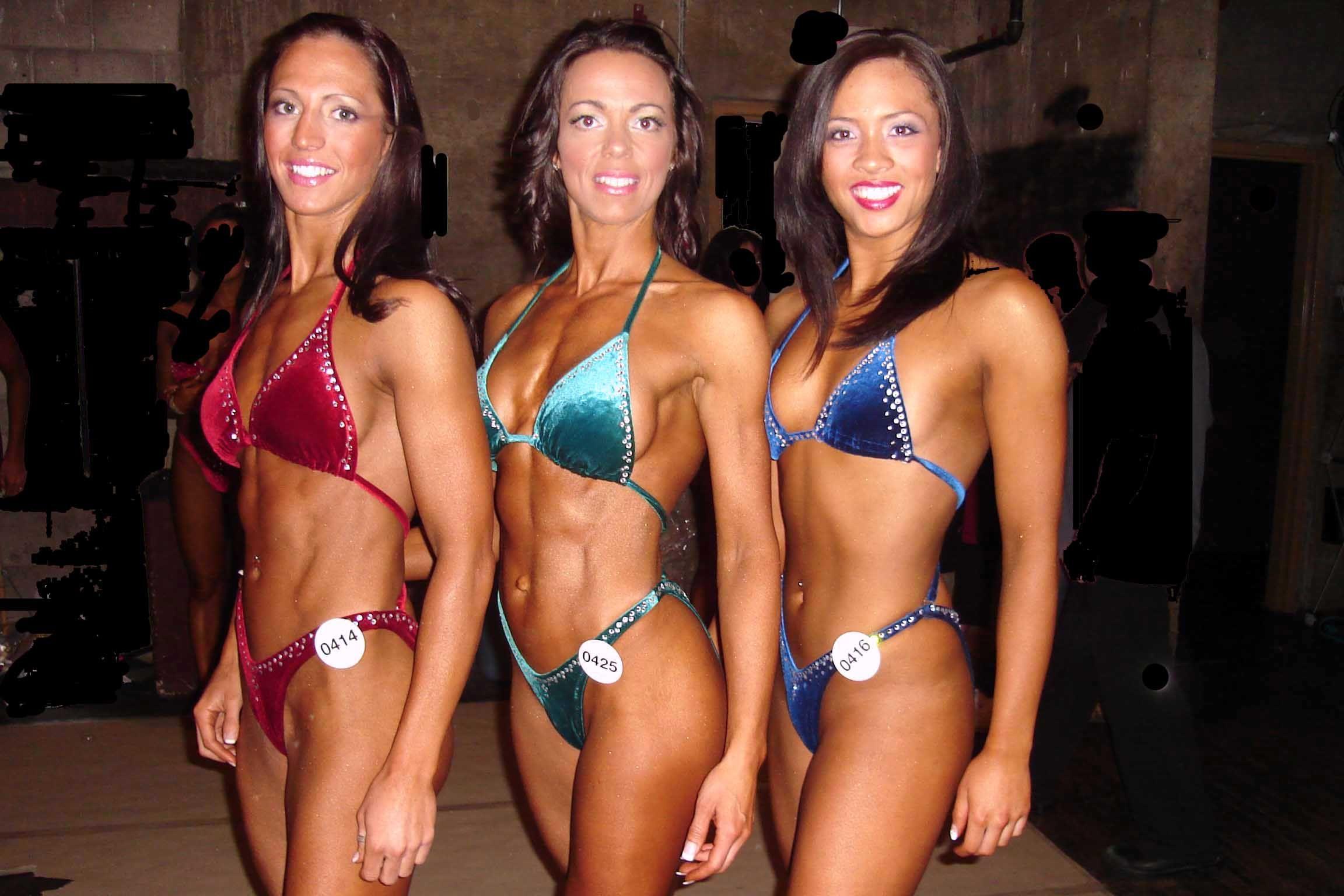 Muscular women nude female bodybuilders fitness girls sexy sport