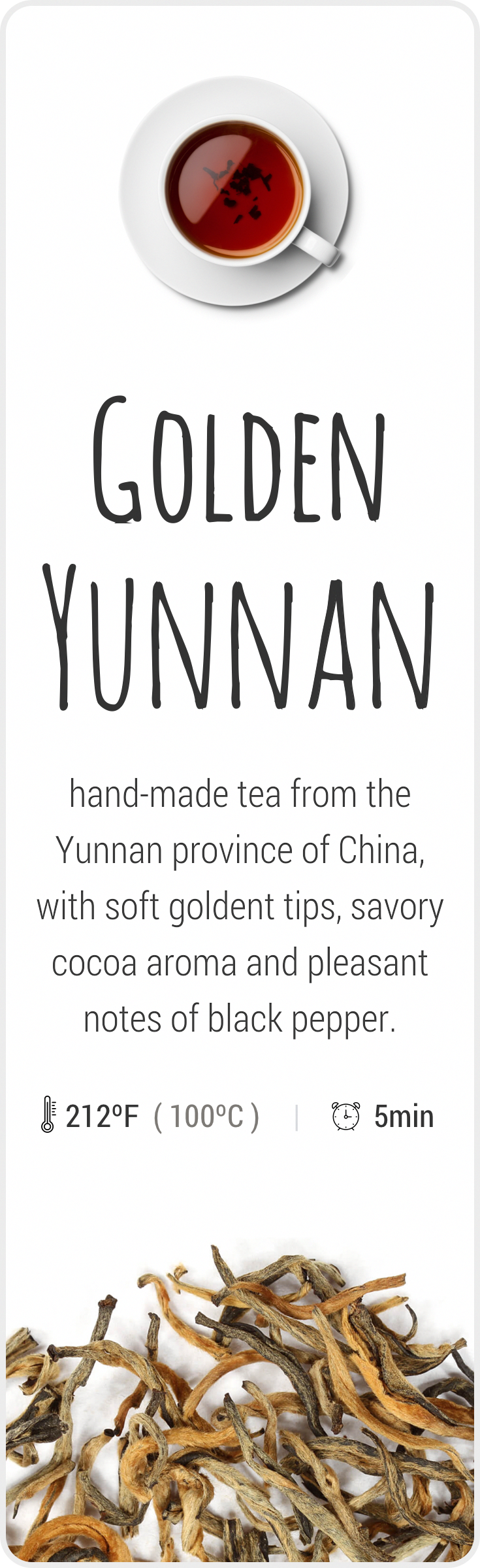 Farmfresh tea from Yunnan, China, the birthplace of tea