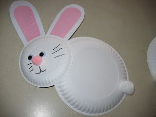 preschool crafts for kids easy easter bunny paper plate craft