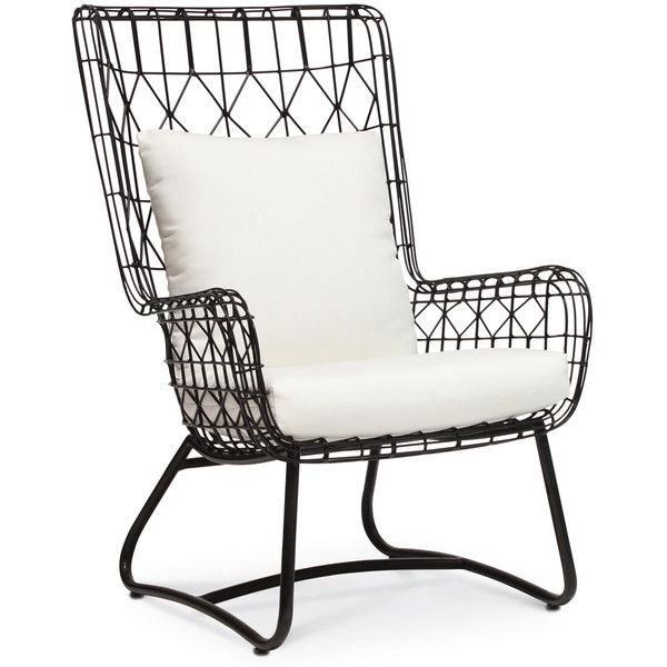 Palecek Capri Black Outdoor Wing Chair 1 228 Liked On Polyvore Featuring Home Outdoors Patio Furniture Chairs Wingback