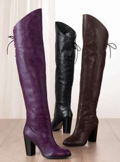 c91d9435e41 Purple leather Boots