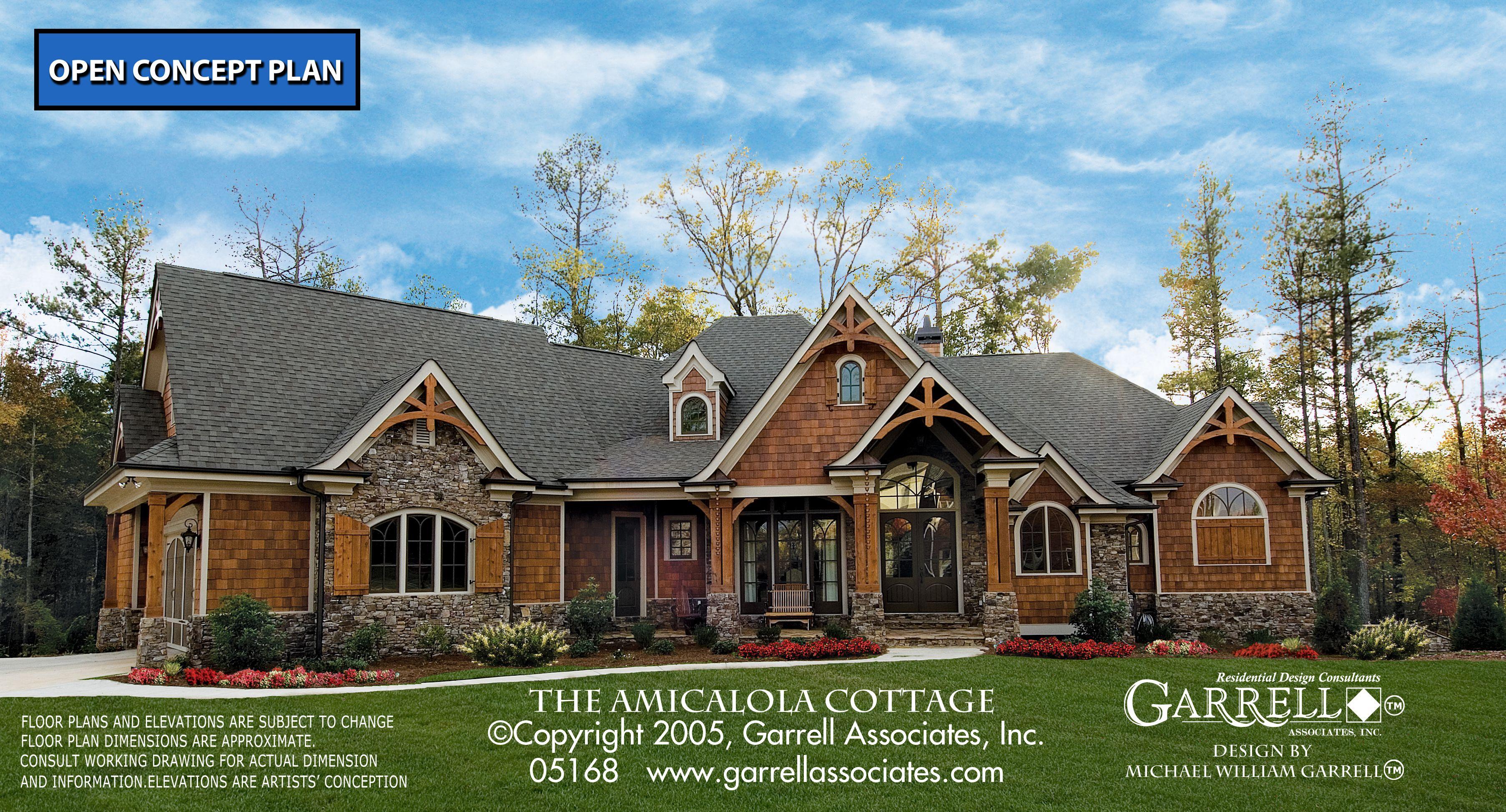 Amicalola Cottage House Plan 05168 Front Elevation Mountain Style