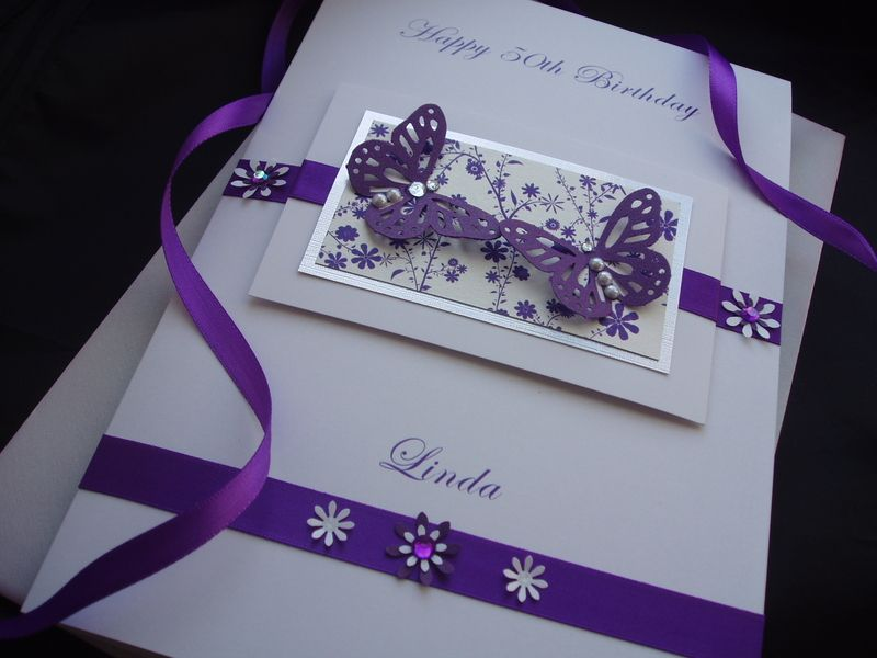 Beautiful purple butterfly birthday card Cards – Butterfly Birthday Card