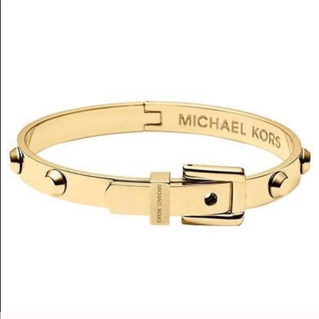 Authentic Michael Kors Buckle Bangle Bracelet | Michael kors