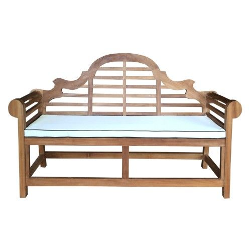 Chic Teak Lutyens Outdoor Bench Cushion, White in 2018 Products