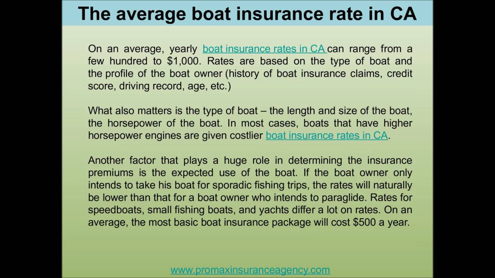 It Is Hardly Surprising That Boat Insurance Rates In Ca Is A Topic