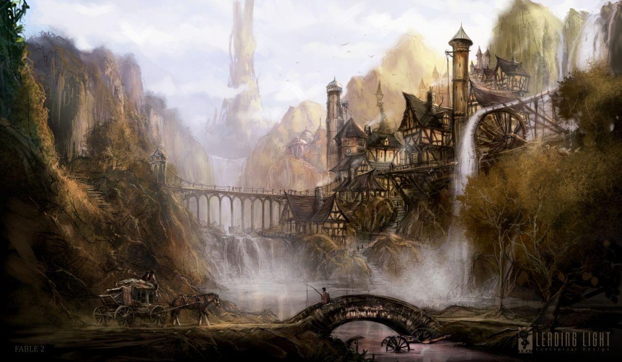 Les Illustrations De Matt Allsopp Concept Art Game Art And Fantasy Town