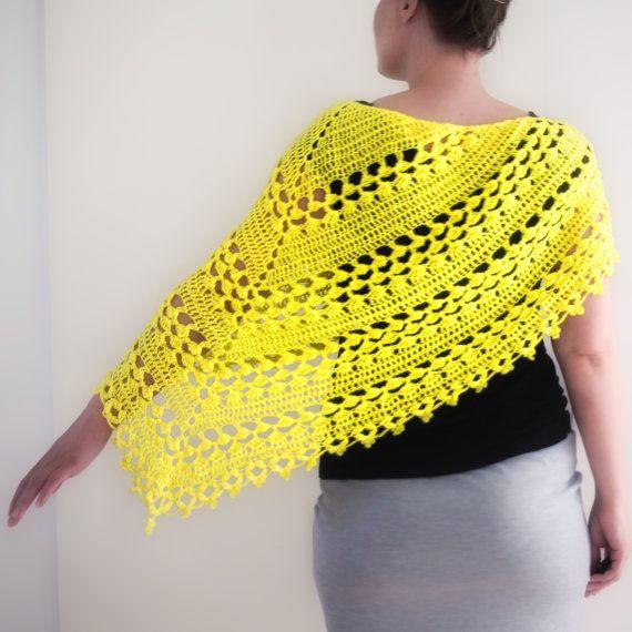 Crochet Large Lacy Shawl Pattern, 2 sizes. Crochet Pattern PDF, PDF ...