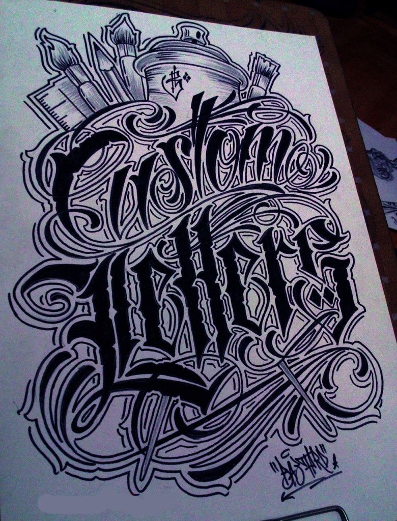 Chicano Lettering Alphabet Chicano Lettering Lettering