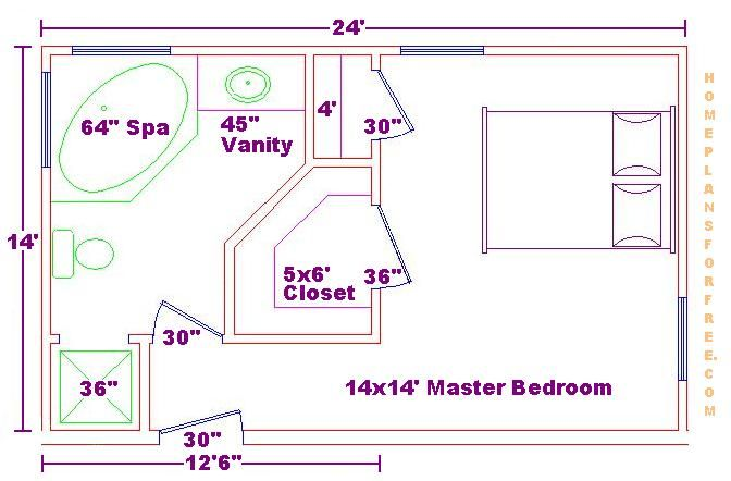 Google image result for for Master bedroom layout