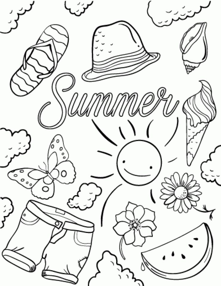 Download and print this Free Summer Coloring Pages 706102
