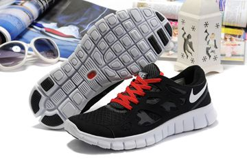 check out ca970 341f5 Nike Free Run 2 Black White Red Womens Shoes