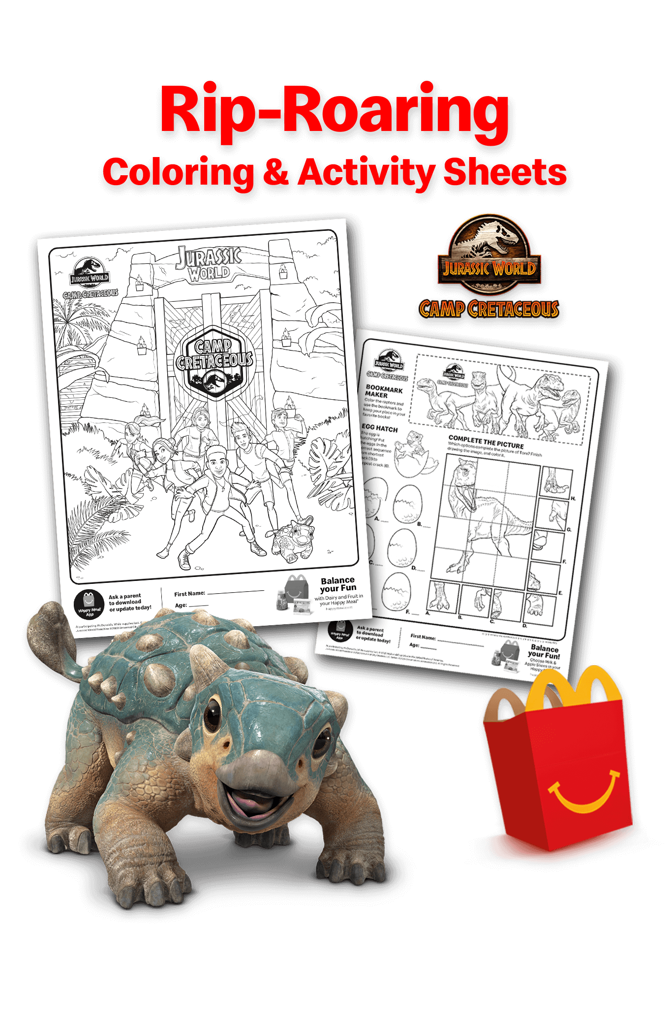 Jurassic World Camp Cretaceous Exciting Coloring And Activity Sheets Animal Figurine Toys Jurassic World African Jungle Animals