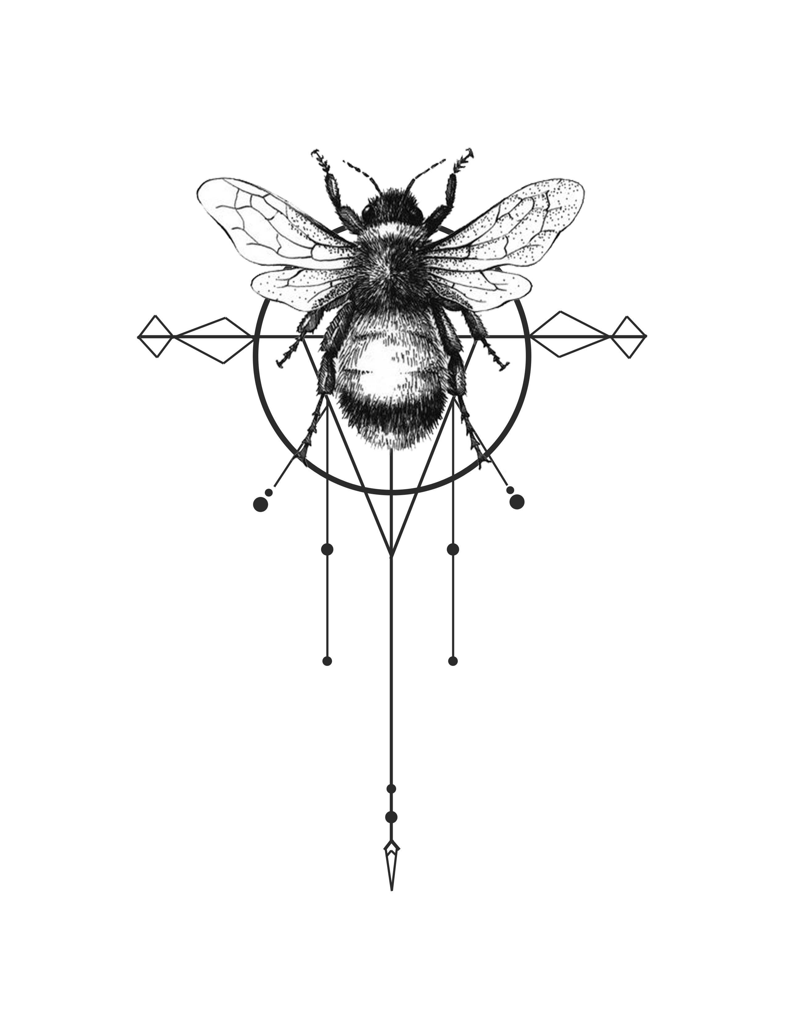 Tattoo Inspiration Bee Design