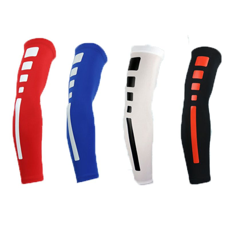Hoge Kwaliteit Mens Sport Basketbal Schieten Fietsen Compressie Arm Mouw Elleboog Protector Pad Pads Brace Armwarmers