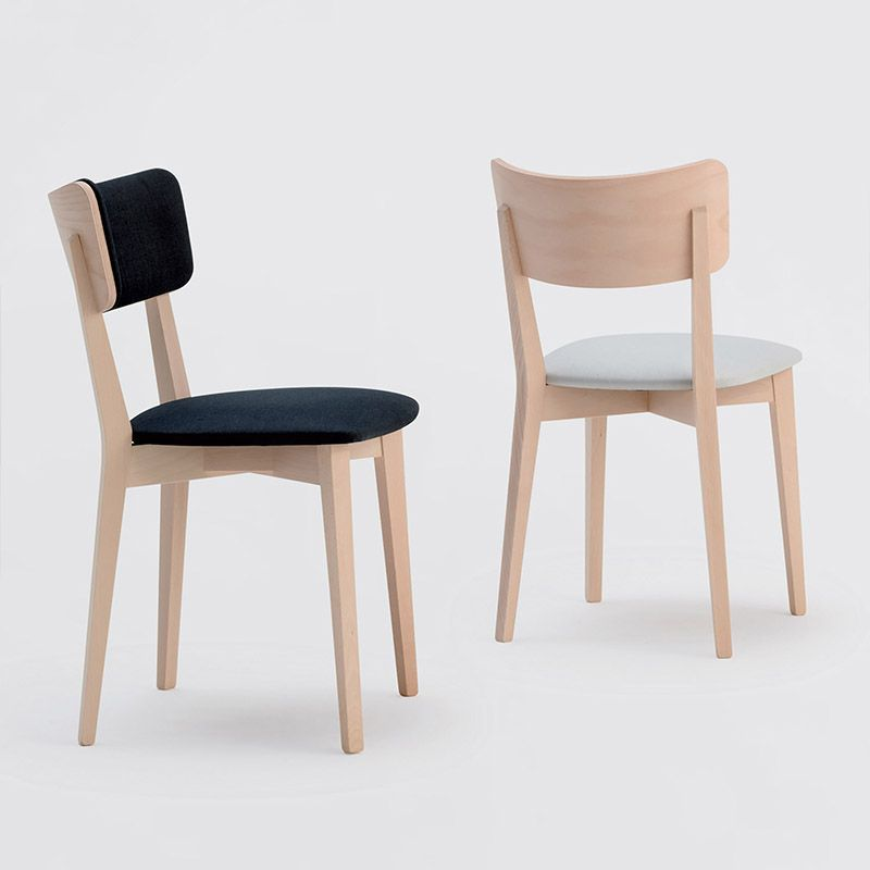 Lily 1 2 Sandler Seating Side Chair In Natural Beech Wood With An Upholstered Seat And Backrest
