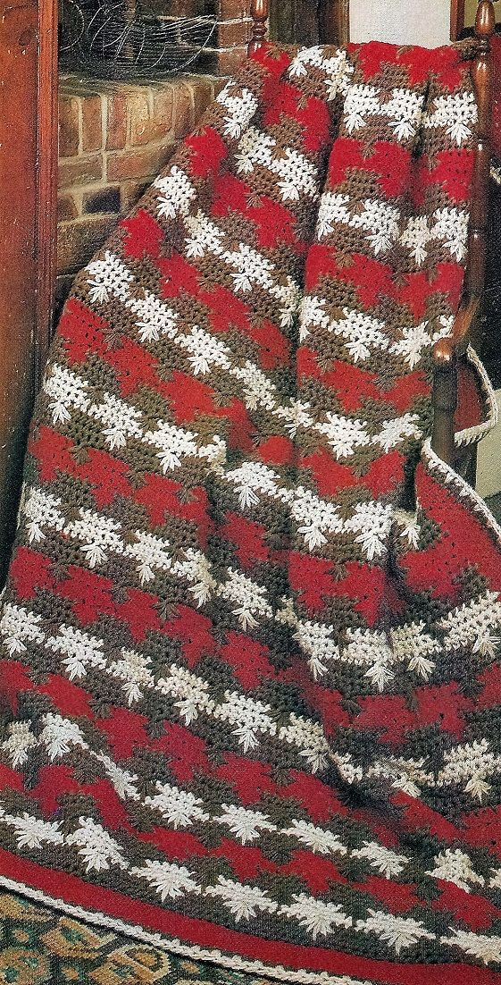 Crochet Mens Spike Cluster Fast Easy Pattern Crochet Throw Lap