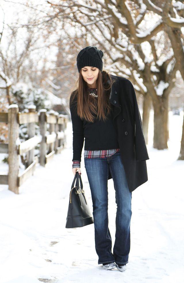 Corilynn & Co.: Jeans, Flanellhemd und Pullover ... und der Mantel sowieso