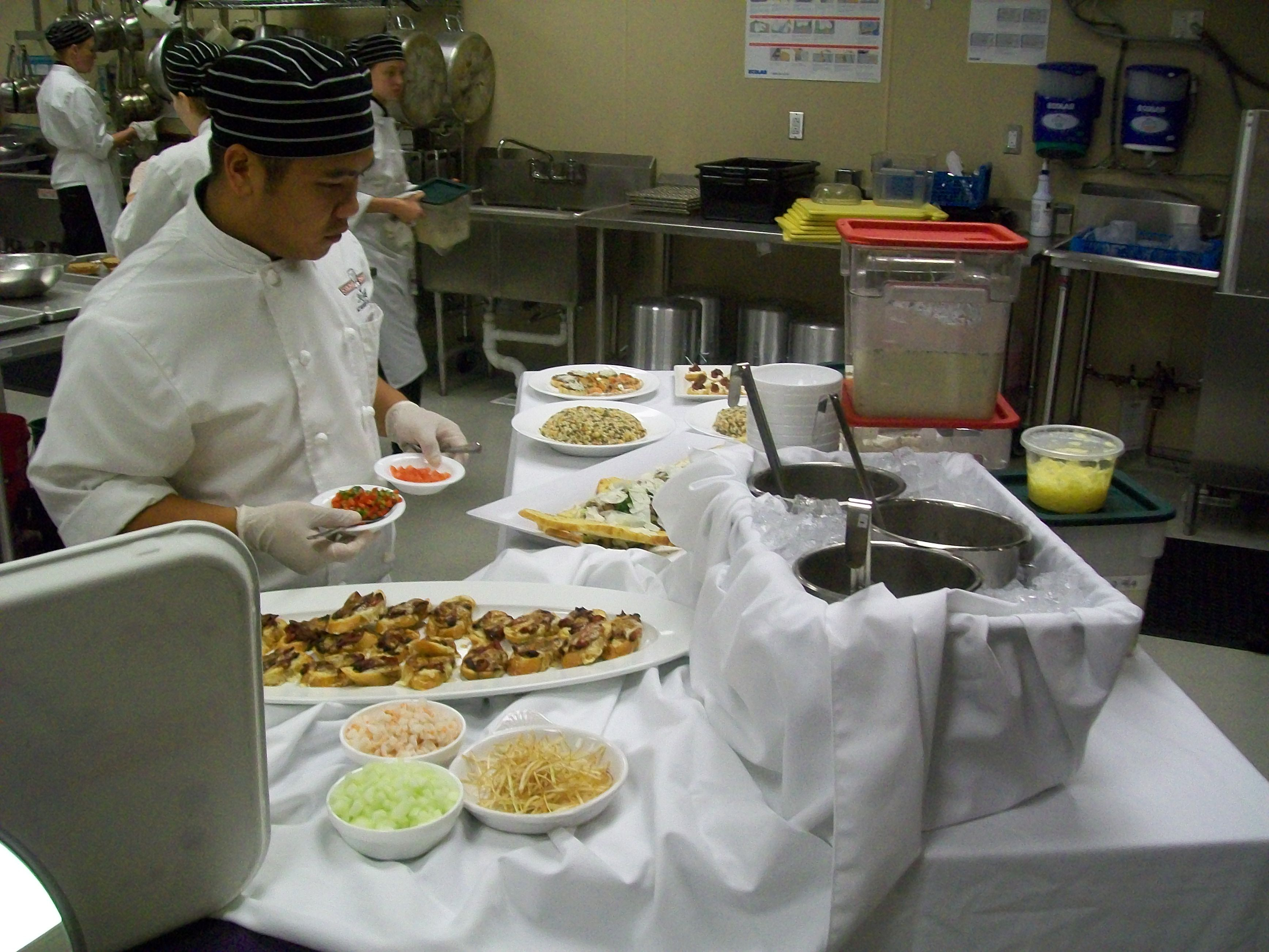 Preparing the buffet associate degree health care health