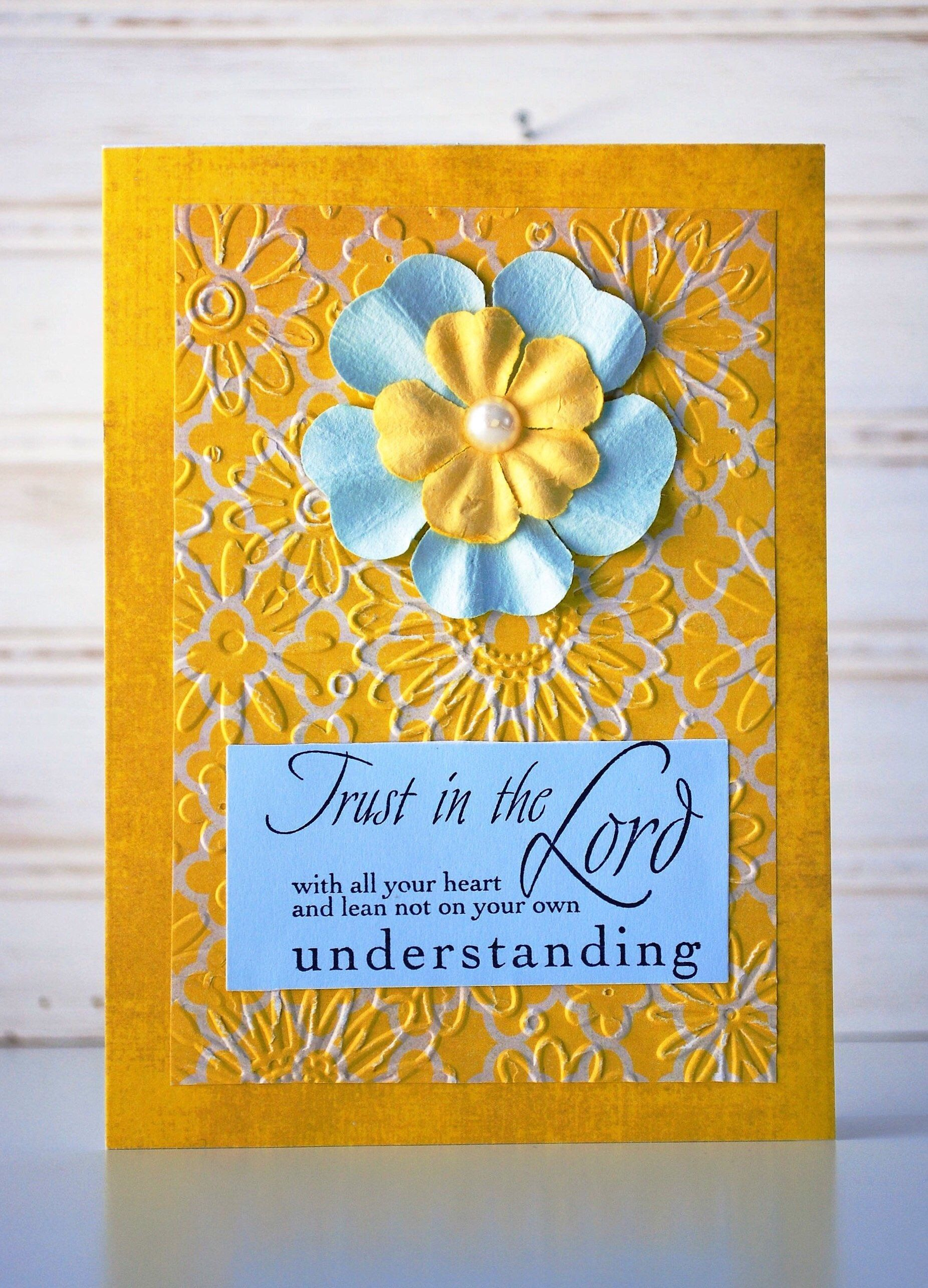 Scripture Greeting Card Unique Handmade Religious Card One Of A