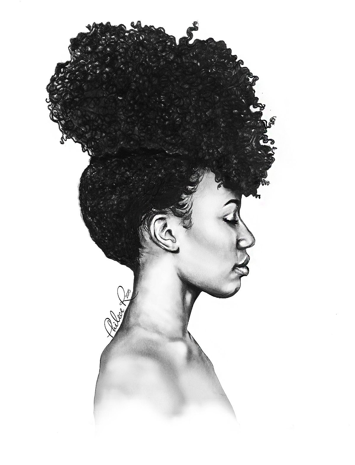 Drawings Fine Art By Philece R Thatartista In 2020 Black Art Painting Afro Art African Drawings