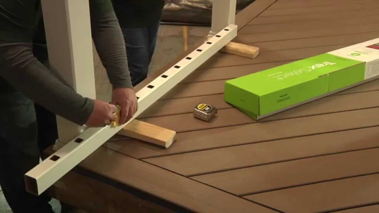 How To Install Trex Select Deck Railing Posts Amp Baers