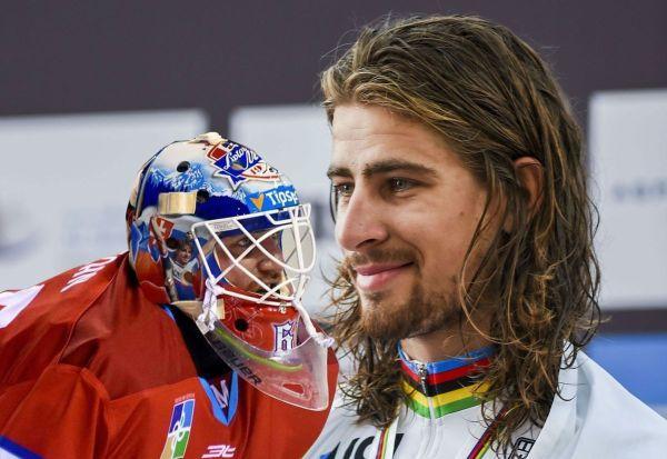 Foto: Sagan pred celým svetom poďakoval brankárovi Križanovi a Mikulášu