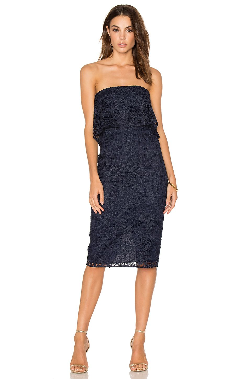 84dea8eb34f LIKELY Lace Driggs Dress in Navy