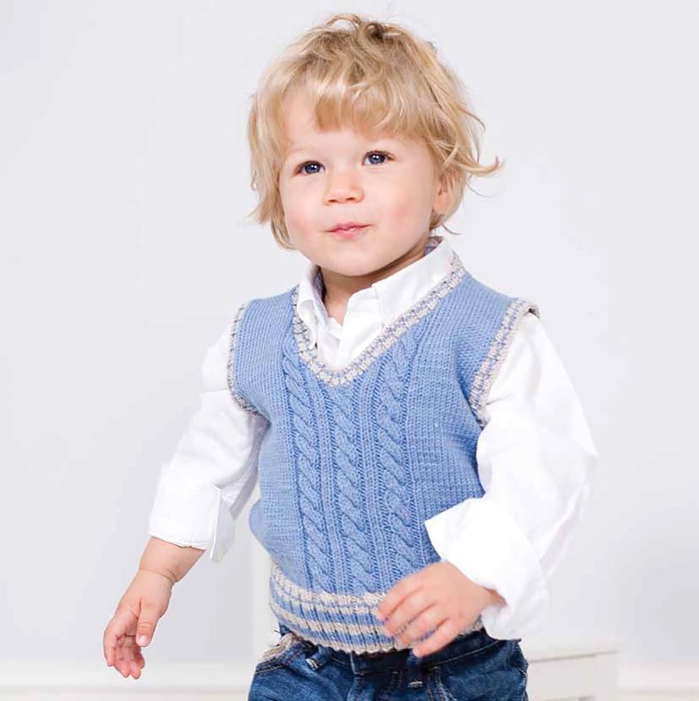 Boys\' Bjorn Tank Top knitting pattern in MillaMia Merino Wool ...