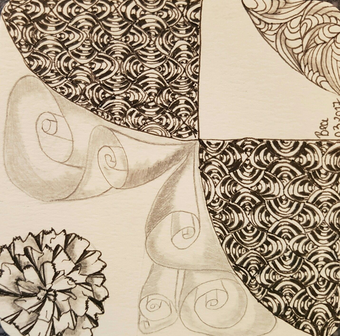 Tangle-Mosaik-Projekt #7