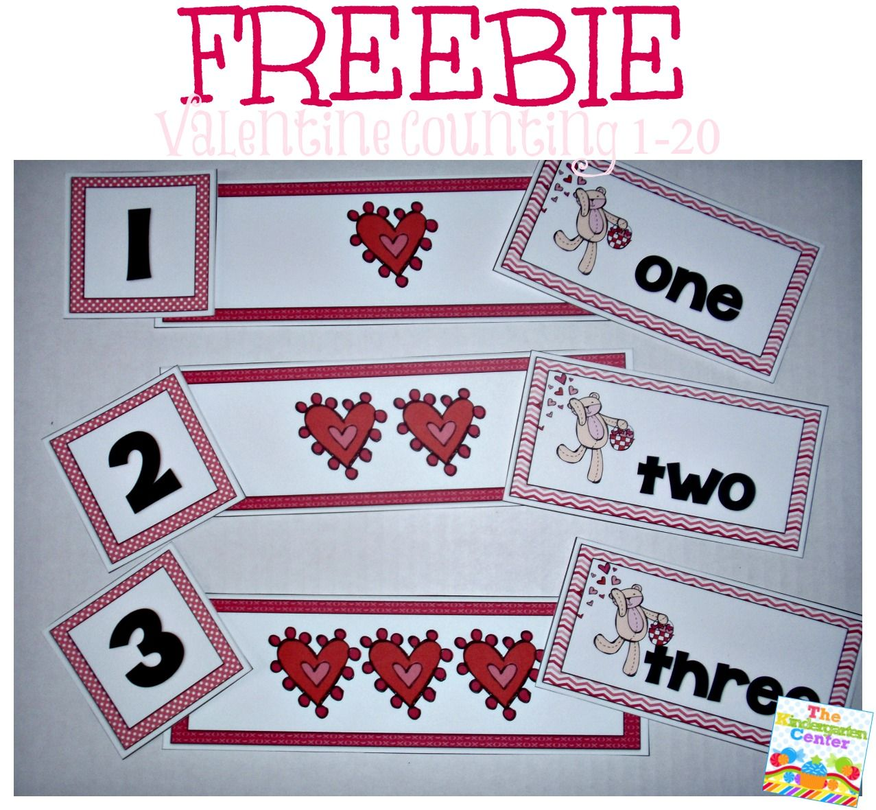 Valentine Counting Centre Numbers 120 Preschool Kindergarten